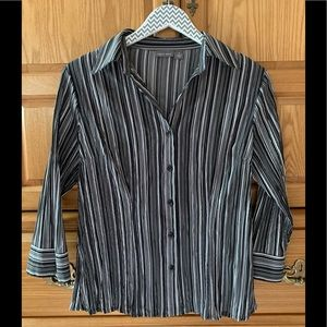 Apt. 9 black striped blouse
